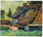 Живопись | Max Pechstein | Zerfallenes Haus, 1906-07