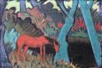 Живопись | Отто Мюллер | Цыганская люшадь у чёрной воды, 1928