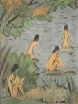 Живопись | Otto Mueller | Landschaft mit Badenden, 1915