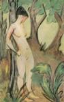 Живопись | Otto Mueller | Stehender Akt unter Bäumen