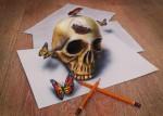 3d | Раймон Брюин | Skull and Butterflies