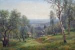 Живопись | Иван Вельц | Летний пейзаж с хатами, 1907
