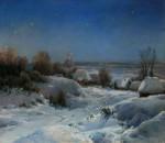 Живопись | Иван Вельц | Украинская ночь. Зима, 1898
