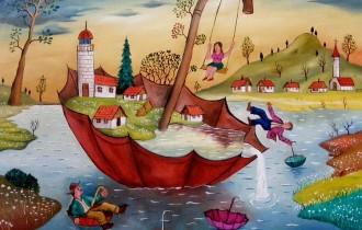 Румынский художник-наивист Михай Даскалу