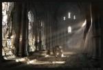 Живопись | Рафаэль Лакост | Dawn on the Ancient Hall