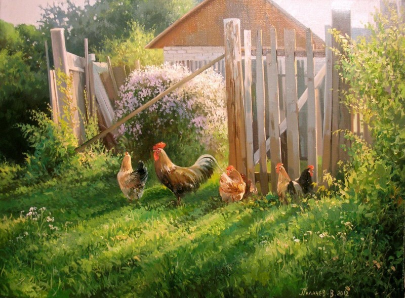 Красота русской природы в картинах Вячеслава Палачёва