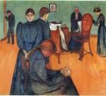 Живопись | Эдвард Мунк | Смерть В Комнате Больного, 1893