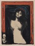 Живопись | Эдвард Мунк | Мадонна, 1896 (литография)