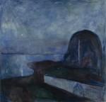 Живопись | Эдвард Мунк | Звездная Ночь, 1893