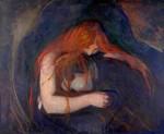 Живопись | Эдвард Мунк | Вампир, 1895