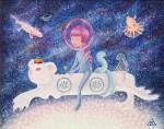 Живопись   Полина Шелест   Space Edelweiss
