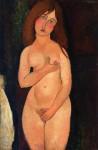 Живопись | Амедео Модильяни | Венера (Стоящая Обнаженная), 1917