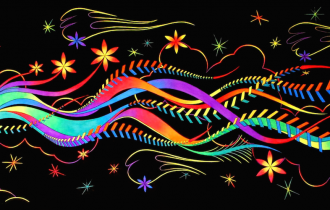 Флуоресцентная живопись Беатрис Варнайтэ