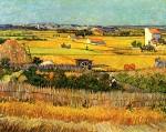 Живопись | Винсент ван Гог | Урожай в Ла Кро, и Монмажур на заднем плане, 1888