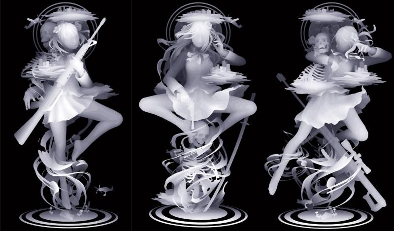 Призрачные фигуры Казуки Такамацу
