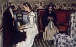 Живопись | Поль Сезанн | Девушка у пианино (Увертюра к Тангейзеру), 1869