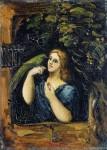 Живопись | Поль Сезанн | Женщина с Попугаем, 1864