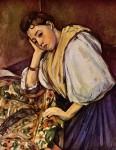 Живопись | Поль Сезанн | Молодая итальянка, 1896