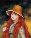 Живопись | Пьер Огюст Ренуар | Девушка в соломенной шляпке, 1884