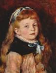 Живопись | Пьер Огюст Ренуар | Мадемуазель Гримпель с голубой лентой, 1880