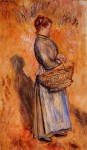 Живопись | Пьер Огюст Ренуар | Пейзаж со стоящей крестьянкой, 1884