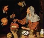 Живопись | Диего Веласкес | Старуха, жарящие яйца, 1618