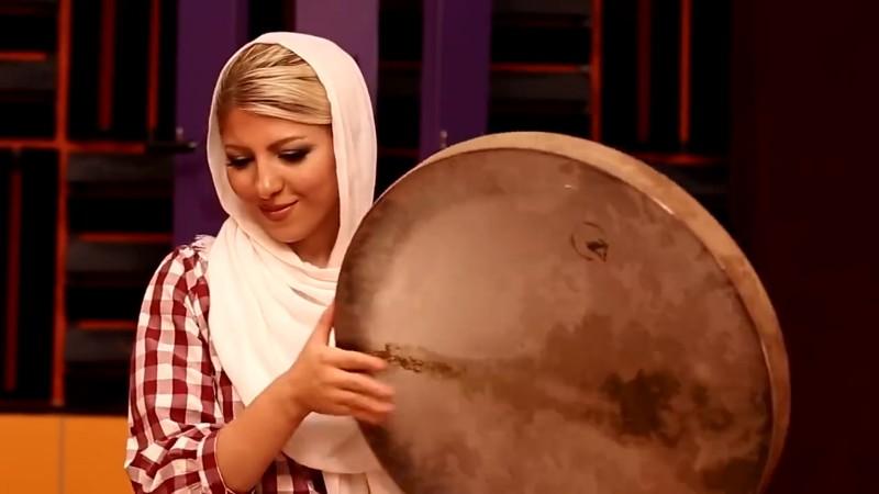 Королева бубна из Ирана. Игра на дафе