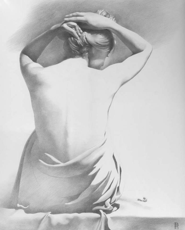 рисунки карандашом голых женщин