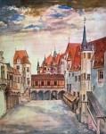 Акварель | Альбрехт Дюрер | Дворик замка в Инсбруке, 1494