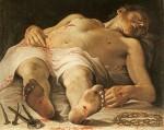 Живопись | Аннибале Карраччи | Мёртвый Христос, 1583-85