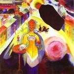 Живопись | Василий Кандинский | Дама В Москве, 1912