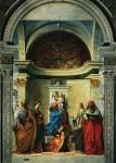 Живопись   Джованни Беллини   Мадонна на троне со святыми Петром, Екатериной, Лючией и Иеронимом, 1505