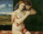 Живопись | Джованни Беллини | Обнажённая перед зеркалом, 1514-16