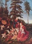 Живопись | Лукас Кранах Старший | Отдых На Пути В Египет, 1504