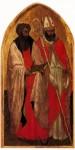 Живопись | Мазаччо | Триптих св. Ювеналия. Левая створка. Св. Варфоломей и св. Блез