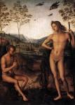 Живопись | Перуджино | Аполлон и Марсий, 1490-92