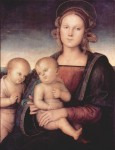 Живопись | Перуджино | Богоматерь с младенцем и юным Иоанном Крестителем, 1497
