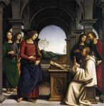Живопись | Перуджино | Видение святого Бернара, 1493