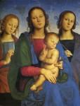 Живопись | Перуджино | Мадонна И Младенец Со Св. Екатериной И Св. Розой, 1493