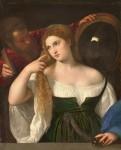 Живопись | Тициан Вечеллио | Женщина перед зеркалом, около 1515