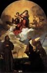 Живопись | Тициан Вечеллио | Мадонна во славе, с младенцем Иисусом, Святым Франциском и Альвесом, 1520