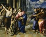 Живопись | Эль Греко | Христос исцеляет слепого, 1570-75