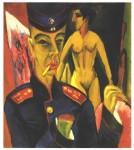 Живопись | Эрнст Людвиг Кирхнер | Автопортрет в солдатской форме, 1915