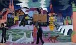 Живопись | Эрнст Людвиг Кирхнер | Вид Базеля, 1927-28