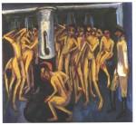 Живопись | Эрнст Людвиг Кирхнер | Солдатская баня, 1915