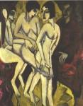 Живопись | Эрнст Людвиг Кирхнер | Суд Париса, 1912