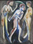 Живопись | Эрнст Людвиг Кирхнер | Танец между двумя женщинами, 1915
