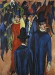 Живопись | Эрнст Людвиг Кирхнер | Уличная сценка в Берлине, 1914