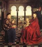 Живопись_Ян ван Эйк_Мадонна канцлера Ролена, 1435