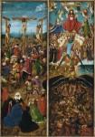 Живопись | Ян ван Эйк | Распятие и Страшный суд (диптих), 1420-25